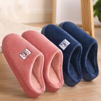 棉拖鞋女冬季半包跟家居室内保暖月子鞋厚底毛绒棉拖男冬
