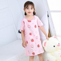 女童睡裙短袖公主薄款夏季儿童睡衣女可爱女孩家居服裙子