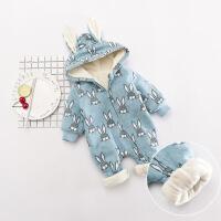 婴儿连体衣冬新款宝宝印花连动物服新生儿抱服男童6初生百天3个月XM-1
