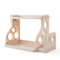 厨房用具置物架调料调味品收纳架刀架落地座筷子储物架多功能双层