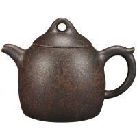 宜兴紫砂壶 手工茶壶 柴烧窑变原矿老段泥壶茶具 图片色