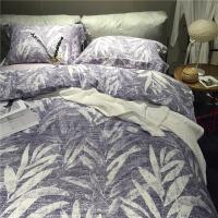 天丝磨毛四件套全棉加厚床上用品美式复古田园4件套定制