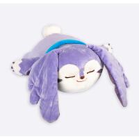 梦奇睡觉觉抱枕 蓝色可爱毛绒玩偶