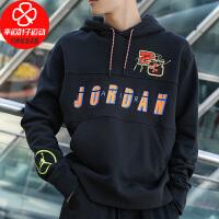 Nike/耐克男装新款AIR JORDAN运动服休闲上衣宽松舒适透气连帽卫衣套头衫CV2744-010