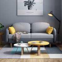 北欧沙发小户型简约现代双人三人布艺沙发客厅阳台卧室网红小沙发