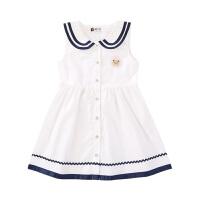 【2件3折到手价:48元】女童装时尚可爱连衣裙 2021夏季新款洋气海军风大小宝宝背心裙子