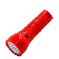 久量led手电筒强光可充电家用应急灯旅行便携骑行红色手电婚庆用
