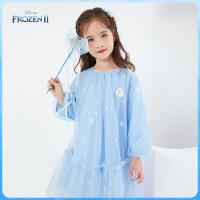 迪士尼女童网纱连衣裙2021春装新款冰雪奇缘爱莎儿童宝宝裙子