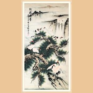 广西美协会员 李玉夕(松鹤高寿) ZH348