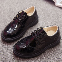 男童皮鞋黑色英伦风男孩演出鞋小学生儿童鞋男生表演鞋中大童皮鞋