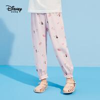 迪士尼女童灯笼裤防蚊裤2021夏装新款童装儿童宝宝休闲宽松长裤