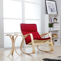美达斯 实木休闲椅子弯曲摇椅 阳台躺椅逍遥椅 老人椅摇摇椅沙发椅午休椅子