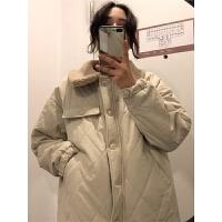 冬季2018新款韩版仿羊羔毛领保暖秋冬女装chic棉袄棉衣学生潮