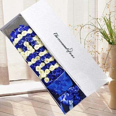 情人节礼物送女友情爱人肥皂花束假花生日99朵仿真玫瑰礼盒 藏青色 99朵蓝香槟1314 发货周期:一般在付款后2-90天左右发货,具体发货时间请以与客服协商的时间为准