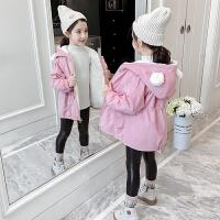2019新款洋气中大童棉袄女童冬装中长款棉衣儿童加绒外套