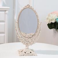 化妆镜台式 简约欧式美容镜梳妆镜子便携公主镜