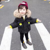 女宝宝外套童装冬装女童加厚棉衣外套1-2-3岁4女宝宝棉袄婴儿小童冬季潮ZQ75蓝