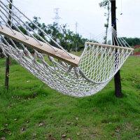 普润 网状带木杆加粗棉线吊床/户外吊床 木棍吊床 休闲秋千 很舒服