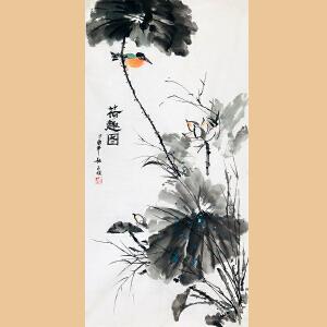 河南省美协会员 杨玉枝(荷趣图)ZH275