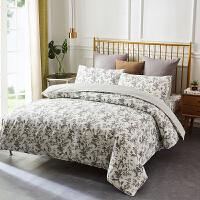 当当优品四件套 1.5-1.8床双人纯棉床单款床品 清风叶语