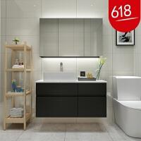 北欧浴室柜组合现代简约洗脸洗手盆柜卫生间洗漱台小户型卫浴吊柜