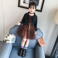 2019春秋季新款中大童儿童洋气时髦两件套女童秋装套装