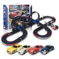音速风暴 轨道赛车 电动遥控轨道汽车 儿童玩具套装 双人手摇加电动TR-12