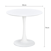 【新品】北欧洽谈桌椅组合商务接待桌咖啡桌黑色圆桌子小圆桌奶茶店餐桌椅
