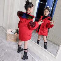 女童大衣女童冬装2018新款韩版女孩棉衣外套中大童装儿童冬季棉袄保暖MYZQ67