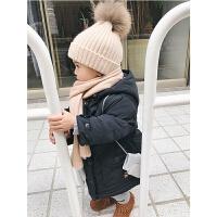 婴童装冬装女小童羽绒服中长款韩版潮婴儿宝宝连帽外套