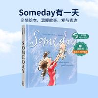 现货包邮 进口英文原版正版 Someday 有一天纸板书 Alison McGhee 经典图画书母爱亲子读物母亲节母爱亲