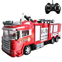 消防车玩具大号遥控儿童遥控消防车会喷水仿真充电大号电动洒水车男孩警车救火车玩具A