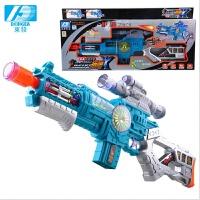 声光音乐玩具枪电动玩具枪儿童电动投影枪声光仿真智能玩具抢3-6岁生日礼物 图片色 默认