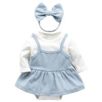 女宝宝连体衣 婴儿粉色哈衣裙子套装 三角爬服韩版春秋 女童外套