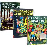 我爸爸的小飞龙英文原版 My Fathers Dragon 3册全套装 纽伯瑞银奖