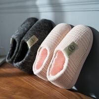 厚底棉拖鞋女冬季室内包跟情侣家用家居冬天棉鞋男冬保暖男士大码