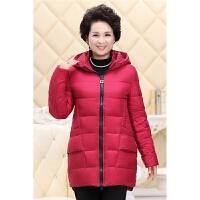新款妈妈装羽绒服轻薄中老年羽绒服女装中长款保暖冬装 XL 约100-125斤