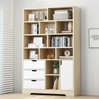 书柜置物架简约落地书架家用学生客厅储物柜省空间收纳柜子置物柜