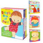 Karen Katz 凯伦.卡茨 经典翻翻书 Babys box of fun 英文原版绘本书 低幼入门启蒙学习英语早
