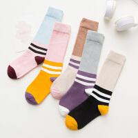 儿童长筒袜过膝纯棉高筒堆堆袜春秋冬保暖男女童袜中筒2-12岁