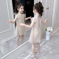 夏季新款儿童夏装女孩公主裙子女童洋气中国风旗袍连衣裙