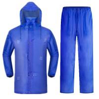 牛筋加厚加大分体雨衣雨裤套装 男女电动车骑行雨披 带帽工地雨衣 XXXL