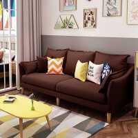 布艺沙发小户型北欧风简约现代组合客厅出租房单双三人沙发网红款