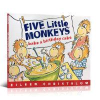 Five Little Monkeys Bake a Birthday Cake五只小猴子 Eileen Christ