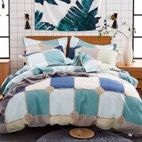 新款纯棉全棉磨毛四件套床品套件1.8m枕套被套床单三件套1.5定制