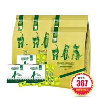【每满199-50】耐威克组合套装:幼猫粮10kg*1+猫湿粮馋嘴猫条30支装300g*3