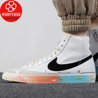 Nike/耐克男鞋新款高帮运动鞋舒适轻便耐磨涂鸦印花休闲鞋板鞋DJ4278-101