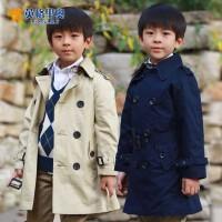 英格里奥童装男童休闲长款长袖风衣1516