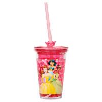 经典米奇白雪公主长发公主漫威蜘蛛侠儿童吸管水杯 公主 中