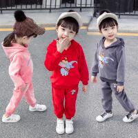 2019春秋季新款中小童女孩洋气两件套男女童童装秋装套装